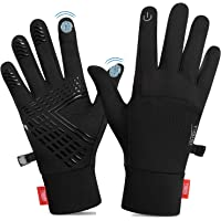 TANSTC Touchscreen Cycling Gloves, Mens Running Gloves Men Women Thermal Gloves, Non-Slip Elastic Cuff Thermal Gloves…
