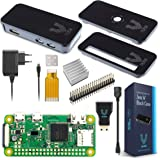 V-Kits Raspberry Pi Zero W Basic Kit with Premium Black Case-EU Plug Edition