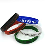 The Sweatshop Motivational Silicone Rubber Wristbands (Pack of 5)