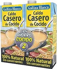 Gallina Blanca Caldo De Cocido 100% Natural Envase 2 X 1 Lt, 2000 Mililitro