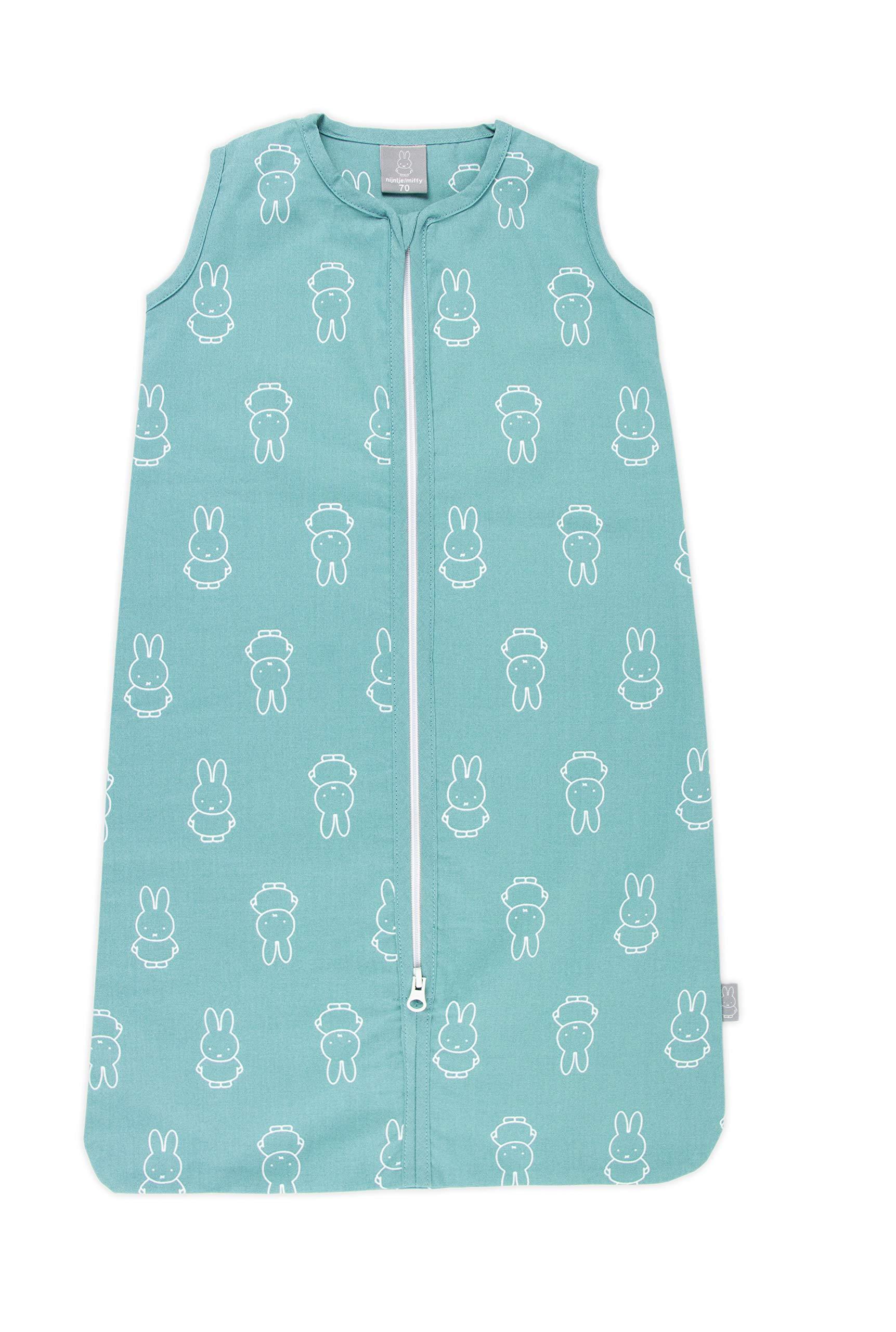 Miffy Light Ocean – Saco de dormir de verano para bebé (90 cm, con cremallera)