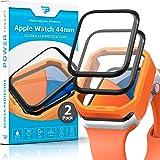 Power Theory Beschermfolie voor Apple Watch 40mm [2 stuks] - pantserglasfolie met sjabloon, pantserfolie, pantserglas, displa