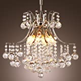 Ganeed Chandeliers,3-Light Modern Crystal Chandelier, Pendant Lighting,Flush Mount Ceiling Light Fixture for Living Room,Offi