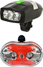 Dark Horse 001 LED Headlight with Horn and Rear Light Bicycle Combo, Adult