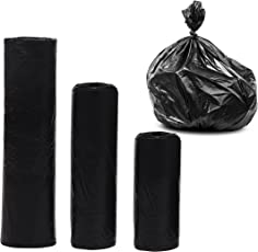 Livzing Garbage Bags Dustbin Liners Bin Covers Kitchen Trash Household Disposal Polythene Refuse Sacks Black - 3 Sizes