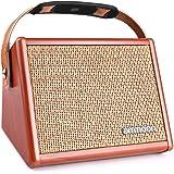 ammoon Amplificador de Guitarra 15W, Mini Amplificador Práctica Para Guitarra Acústica, Conecta al Micrófono y con el Cable d