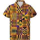 chaqlin 3D Holiday Short Sleeve Men's Summer Hawaiian Shirts Tops Casual Loose Button Down Blouse