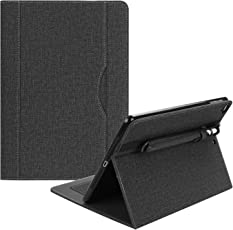 "ProElite Smart Premium Flip Case Cover for Apple iPad 9.7"" Air 1 Air 2 2017 2018 (A1893/A1954) (Black) with Pencil Holder"