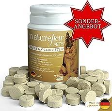 Natureflow Pets Gelenktabletten für Hunde – Ergänzungsfutter für Hunde mit Grünlippmuschel, MSM und Teufelskralle – Beweglichkeit, Gelenk- und Knochengesundheit – 100 Tabletten für bis zu 6 Monate