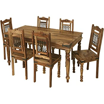 Jali Solid Sheesham Indian Rosewood 1 75m Dining Table Solid