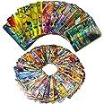 100pcs Cartes Pokemon Francais, Amusant Flash Card, GX Flash Trading Puzzle Tag Team Cartes, Cadeaux de Noël et Cadeaux d'ann