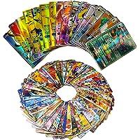 100pcs Cartes francaises,Amusant Flash Card, GX Flash Trading Puzzle Tag Team Cartes, Cadeaux de Noël et Cadeaux d…