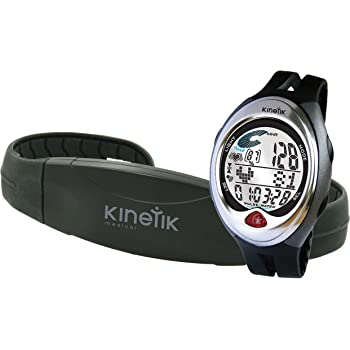 Kinetik Hrm3 Heart Rate Monitor Watch/Chest Strap - Black