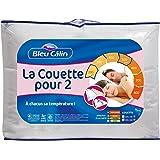 Bleu Câlin Couette Pour Deux Modulable Blanc 240x260 cm K2P46