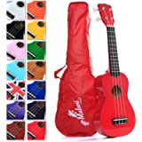 Best Red Soprano Ukulele with Bag, plus 2750+ downloadable pages of Uke Songs, Chords, String Stretching Video etc.