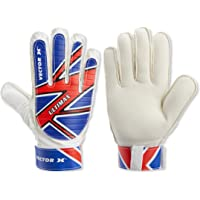 Vector X Ultimax Goal Keeping Glove, (White/Blue/Red)