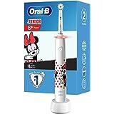 Oral-B Junior Minnie Mouse Elektrische tandenborstel voor kinderen vanaf 6 jaar, 360°-drukcontrole, zachte borstelharen, 2 po