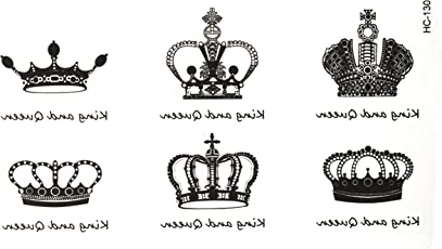 3D Temporary Tattoo Crown Design Size 10.5x6CM - 1PC.