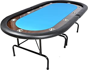 The Oval Ultimate Folding Poker Table - Blue