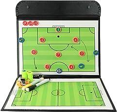LionSports Premium Taktiktafel - Ideal für Taktiken und Spielanpassungen - Perfekt für alle Trainer - Verbesserte Laufwege Ihrer Spieler mit diesem Trainingszubehör - Mit Trillerpfeife und Magnete