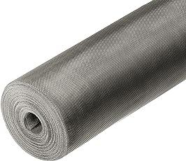 Onpira Fliegennetz Meterware aus Eisen Verzinkt/Aluminium/Edelstahl 0,8m/1m/1,2m (1m/Edelstahl V4A)