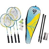 Talbot-Torro Badminton-Set Family, Komplettset mit 2 Juniorschläger 53 cm, 2 Standardschläger, 3 Federbälle…