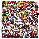 Juego de 100 Pegatinas de Superhéroes Marvel Vinilos para niños,Pegatinas de Coche para Snowboard, Laptop,teléfono Mac, Equip