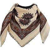 tessago foulard dis 27417 lana 100% variante avorio misura cm 80 X 80