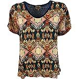 LA FEE MARABOUTEE t-Shirt Donna Fantasia+Maglia Unita Blu Art Fa-TS-Missy
