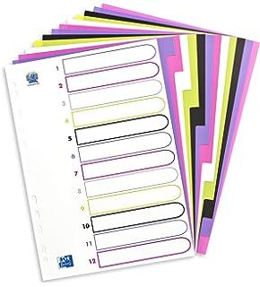 mit Index-Deckblatt aus Kunststoff Tiger Trennbl/ätter A5