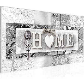 Bilder Home Wandbild Vlies   Leinwand Bild XXL Format Wandbilder Wohnzimmer  Wohnung Deko Kunstdrucke Grau 1