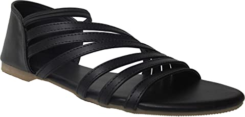 Foot Wagon Black Sandal | Black Slippers | Women Sandals | Girls Sandals | Slippers | Chappals | Flats | Slipper for Women