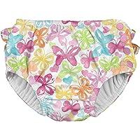 I-Play. Baby & Toddler Girls' Ruffle Snap Reusable Absorbent Swim Diaper