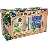 NIVEA Pack Naturally Good Rutina Facial Antiedad, caja de regalo con crema reafirmante de día (1 x 50 ml) y crema de noche re