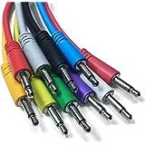 Eurorack Patch Cables - Juego de 5 cables de conexión mono de 3,5 mm para uso con sintetizadores modulares (10 colores/7 long