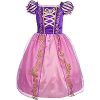 Lito Angels Fille Princesse Raiponce Robe Costume Déguisement Manches Bouffants Anniversaire Fête Halloween Noël Partie…