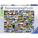 Ravensburger 16319 - Classic Puzzle - 99 the most beautiful places of world, 1500 Teile