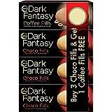 Sunfeast Dark Fantasy Choco Fills plus Coffee Fills Combo 75g (Buy 3 Get 1 Free)