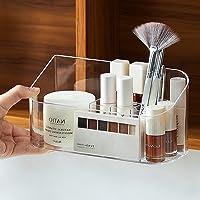 Faffooz Organisateur Maquillage Boîte de Rangement Cosmétique Organiseur de Bureau Transparent pour Rouge à Lèvres, Fond…