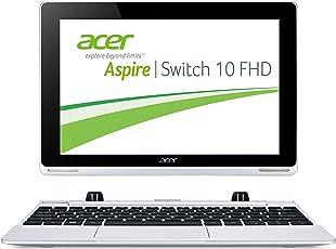 Acer Aspire Switch 10 FHD (SW5-012) 25,6 cm (10,1 Zoll) Convertible Laptop (Intel Atom Z3735F Quad-Core 1,3GHz, 2GB RAM, 64GB eMMC + 500GB HDD, Intel HD Grafik, Full-HD IPS Display, Win 8.1, Touchscreen) silber