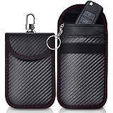 lanpard 2 Pezzi Signal Blocker Pouch,Faraday Bag Blocco Segnale Chiave Auto,Keyless Car Key Signal Blocker,Custodia keyless A