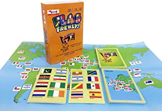 Flag Frenzy Educational Toy Geography Card Game by CocoMoco Kids, Return Gift for Boys and Girls, 6-14 Year olds