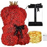 Orso di Rose Orsetto di Rosa Orsacchiotto di Rosà Altezza 25 cm Teddy Bear Rosse Idea Regalo Regali per Lei Fidanzata Complea