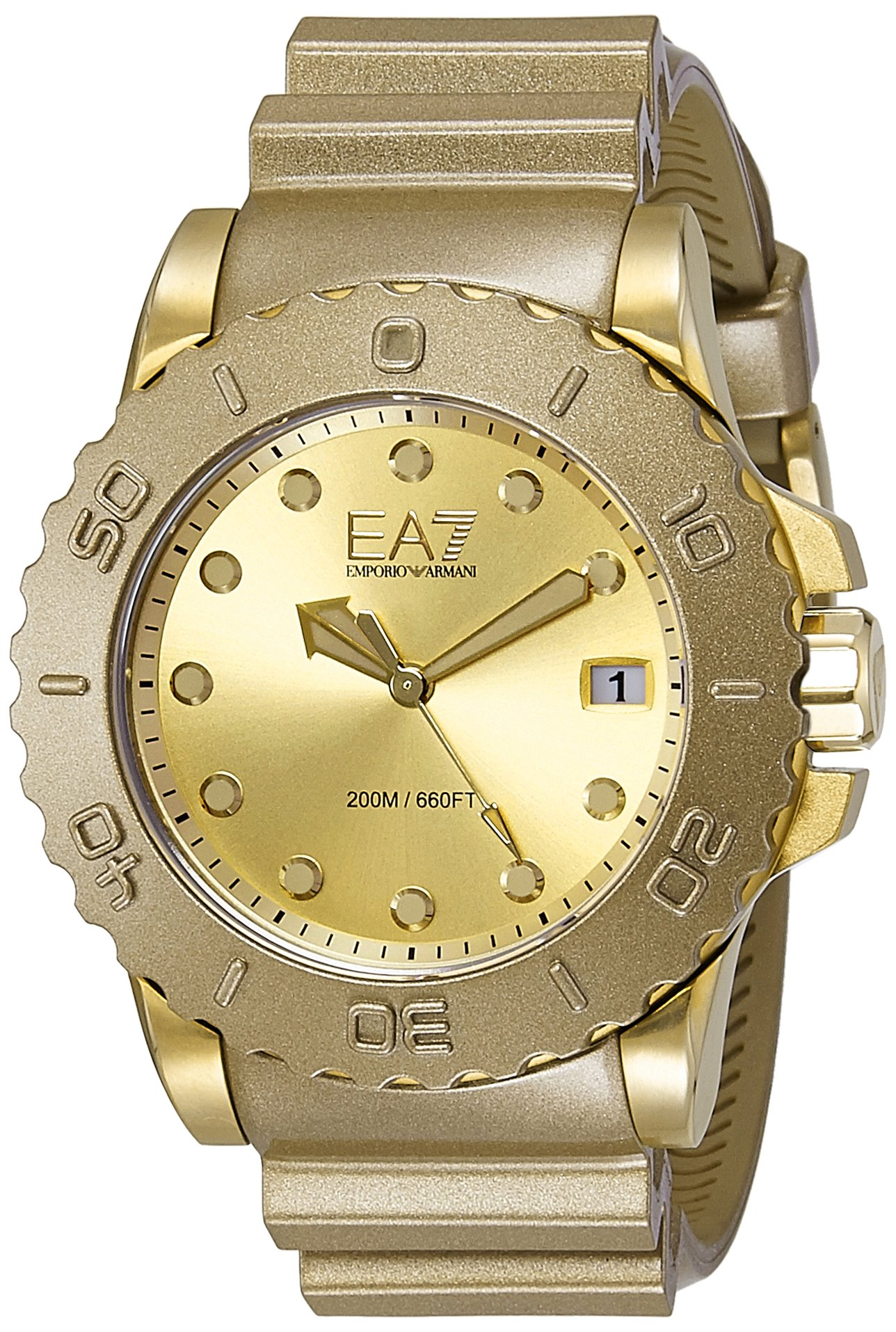 Emporio Armani Wave Analog Gold Dial Men's Watch – AR6084