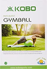 KOBO Gym Ball Anti Burst With Foot Pump (Imported) (All Sizes 55 cm, 65 cm, 75 cm, 85 cm)