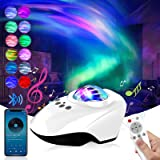 Proyector Estrellas, Proyector de Luz Estelar, Lámpara de Nocturna con Bluetooth y Remoto, 14 Modos Proyector LED Color Repro