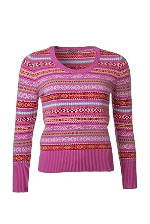 Hawick Knitwear Ladies' 100% Lambswool Scoop Neck Fairisle Jumper ...
