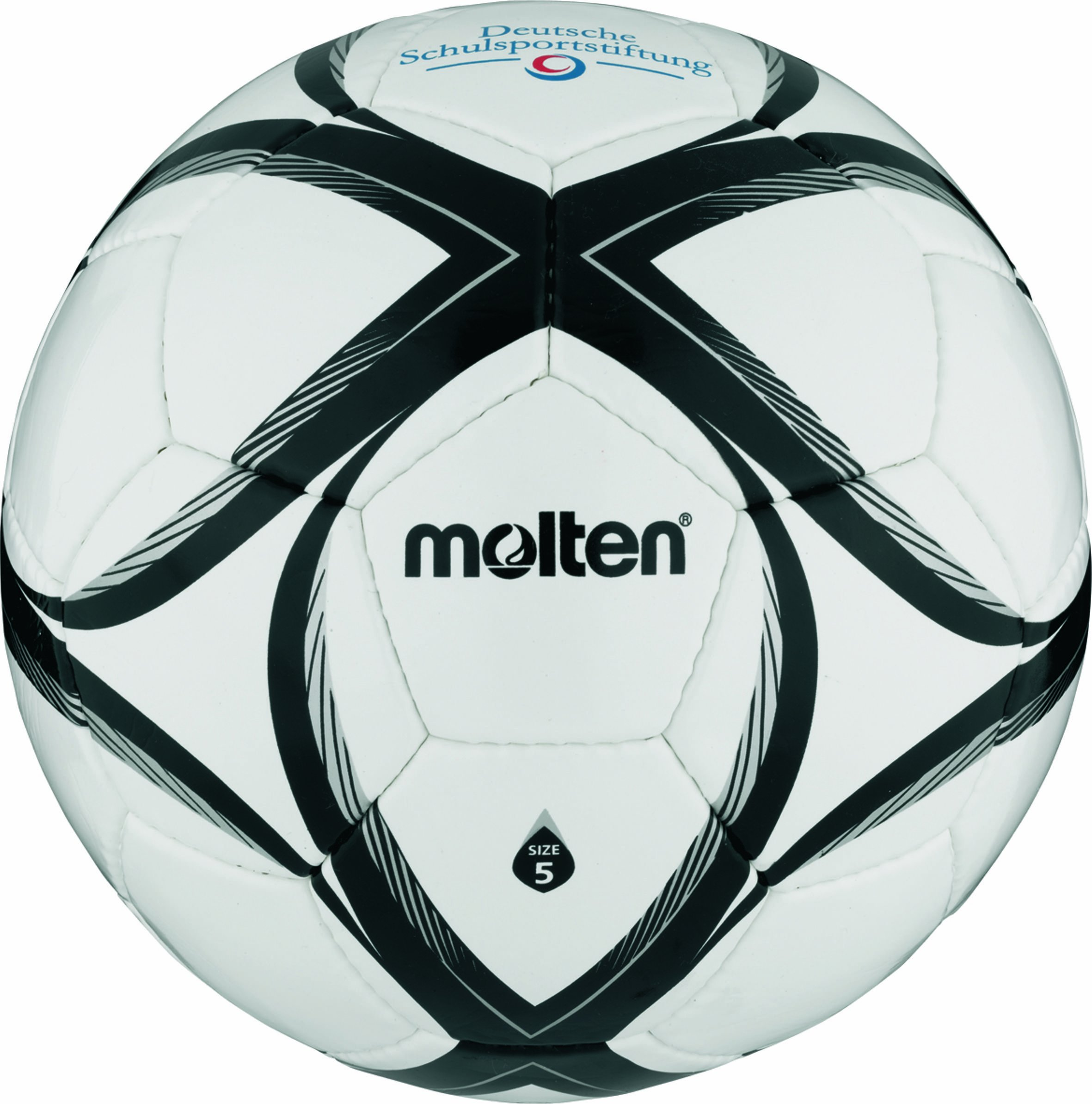 Molten - FXST4, Pallone da calcio, colore: Bianco/Nero/Argento