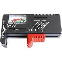 CON:P Batterietester - Mit analoger Anzeige - Zum Prüfen des Ladezustands - Ideal für Batterietypen AAA, AA, C, D (1,5…