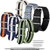 CIVO NATO Strap 6 Packs 18mm 20mm 22mm Bracelets de montre en nylon balistique Bracelets Zulu Boucle en acier inoxydable avec